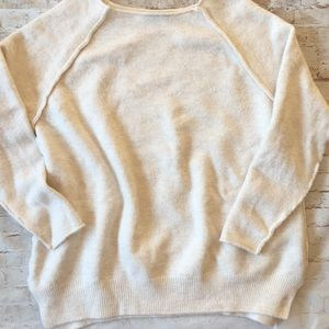 Zara Off White Knit Sweater